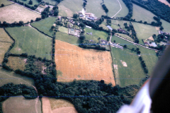 Bardown, aerial view of excavations August 1964: photo H. Cleere