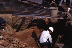Henry Cleere excavating: photo A. Chatwin