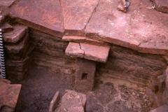 Room IV - tepidarium, detail of hypocaust: photo A. Chatwin