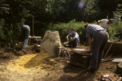 Time Team dig 1998; bloomery smelting: photo J. Hodgkinson