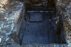 Detail of south wheelpit during excavation: photo Chris Place