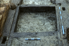 Detail of framework of north wheel pit: photo Chris Place