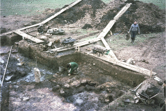 Chingley Forge excavation: photo Lynn Willies