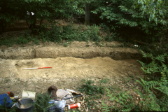 Cobhambury Wood, Edenbridge, road surface during excavation: photo J. Hodgkinson
