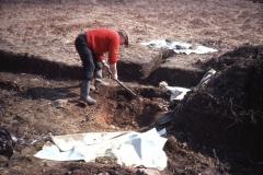 Henry Cleere demolishing furnace 2: photo F. Tebbutt