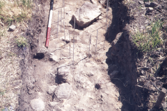 Consolodation hearth rh2 before excavation: photo F. Tebbutt