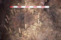 Consolidation hearth rh2 during excavation: photo F. Tebbutt