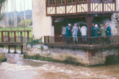 Members of the Group examining Le Moulin du Fourneau
