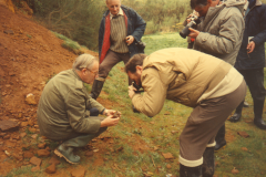 Photographing iron ore at Rainvillers
