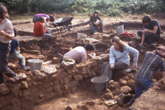 Excavating the bath house: photo A. Meades