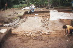 Foundations of Timber Building B: photo A. Meades