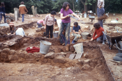 Excavating the hot room: photo A. Meades