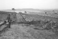 Millbrook Saxon bloomery site, Ashdown Forest, 1980: photo F. Tebbutt