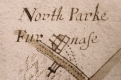 Detail from map of 1660 showing the furnace (WSRO Cowdray Mss 1640)