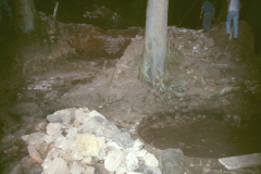 Gun casting pit with remains of furnace behind 1989: photo R. Barnes