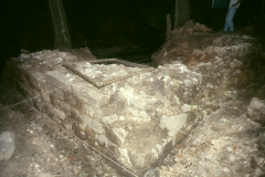 Furnace base during excavation 1989: photo R. Barnes