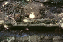 Wheelpit and gun casting pit 1989: photo R. Barnes