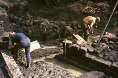 Excavating Furnace 1: photo W. Beswick