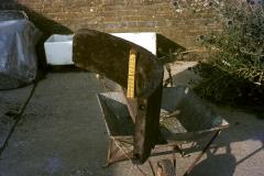 Rim of waterwheel: photo W. Beswick
