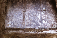 Panningridge: detail of wheel pit of period 2 furnace: photo H. Cleere Oct 1969