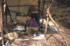 Dennis Beeney breaks the ore: photo D. Meades
