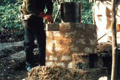 Building a furnace: photo anon