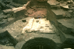 The furnace with the pig beds and gun casting pit: photo D. Meades