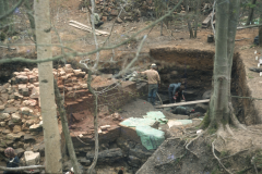 General view of the furnace and gun casting pit: photo D. Meades
