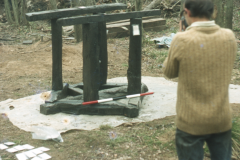 David Crossley photographing the casting table: photo D. Meades