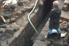 Excavating the culverted wheel pit: photo D. Meades