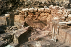 General view of the base of the furnace stack: photo W. Beswick