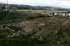 Roffey, Brook Lane medieval house foundations: photo J. Hodgkinson