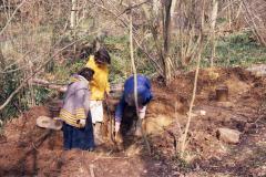 Excavation in progress: photo J. Hodgkinson
