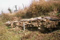 Line of furnaces during excavation: photo W. Beswick