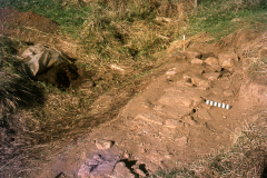 Stone sill during excavation: photo W.Beswick