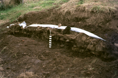 Stone sill during excavation: photo W. Beswick