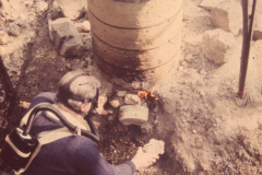 Roger Adams tending the smelt: photo anon