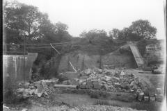 Warren Furnace, Worth, western end of pond bay from former pond, during restoration c.1919: photo L. Robinson