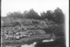Warren Furnace, Worth, eastern end of pond bay from former pond, during restoration c.1919: photo L. Robinson