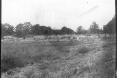 Warren Furnace, Worth, general view of pond bay from former pond, during restoration c.1919: photo L. Robinson
