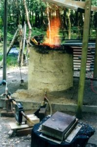 The experimental bloomery furnace